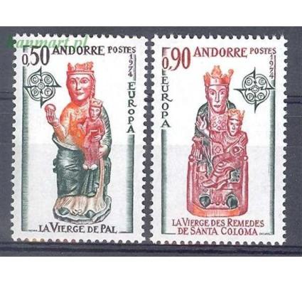 Znaczek Andora Francuska 1974 Mi 258-259 Czyste **