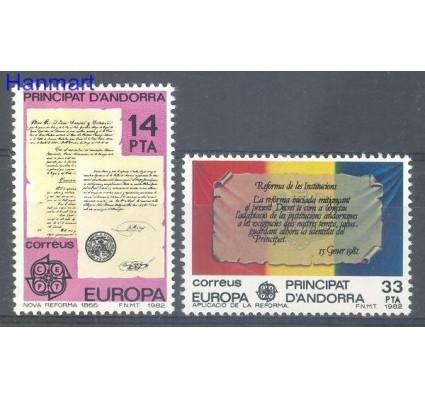 Znaczek Andora Hiszpańska 1982 Mi 153-154 Czyste **