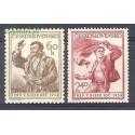 Czechosłowacja 1954 Mi 846-847 Czyste **