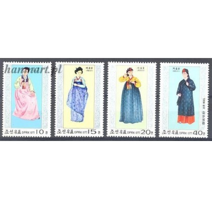 Znaczek Korea Północna 1977 Mi 1600-1603 Czyste **