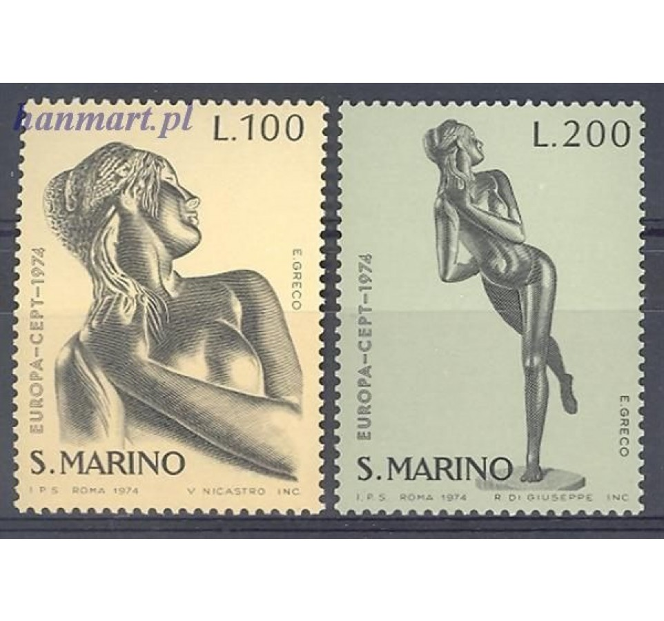 San Marino 1974 Mi 1067-1068 Czyste **