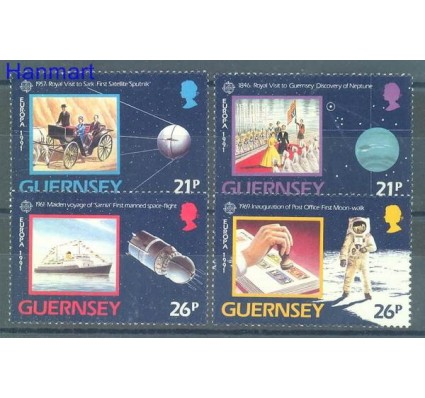 Znaczek Guernsey 1991 Mi 518-521 Czyste **