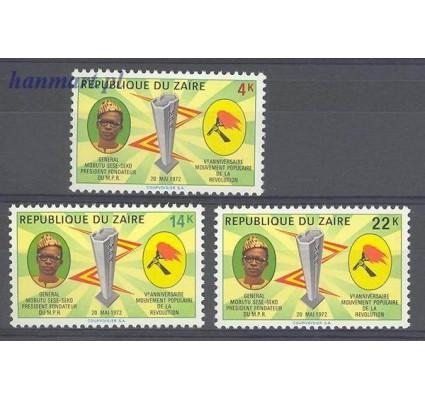 Znaczek Kongo Kinszasa / Zair 1972 Mi 467-469 Czyste **