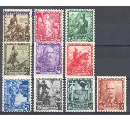 Znaczek Włochy 1938 Mi 604-613 Czyste **