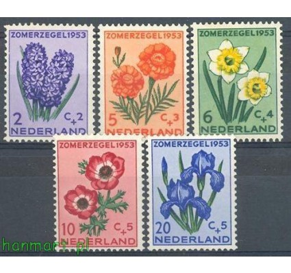 Znaczek Holandia 1953 Mi 607-611 Czyste **