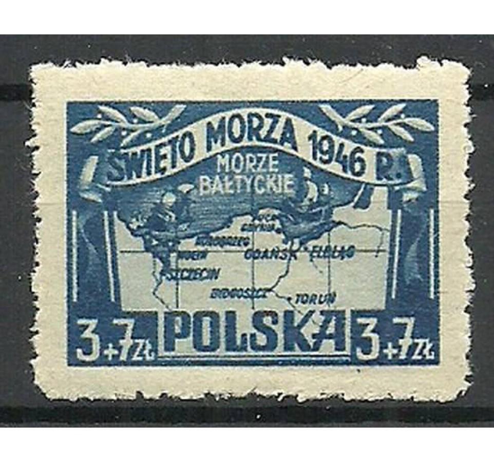 Polska 1946 Mi 440 Fi 406 Czyste **
