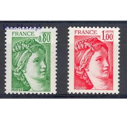 Znaczek Francja 1977 Mi 2057-2058yw Czyste **