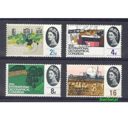 Znaczek Wielka Brytania 1964 Mi 374-377x Czyste **