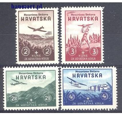 Znaczek Chorwacja 1942 Mi 70-73 Z podlepką *