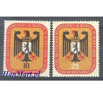 Znaczek Berlin Niemcy 1956 Mi 136-137 Czyste **