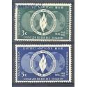 Narody Zjednoczone Nowy Jork 1952 Mi 17-18 Czyste **