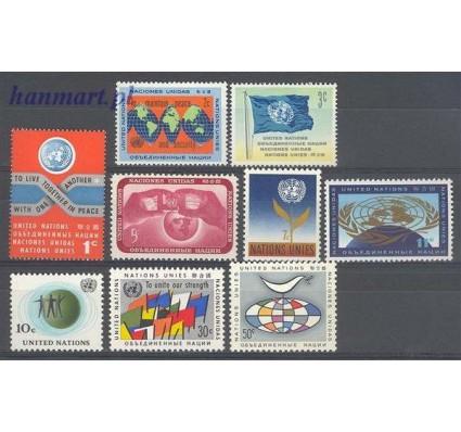Znaczek Narody Zjednoczone Nowy Jork 1961 Mi 98-106 Czyste **