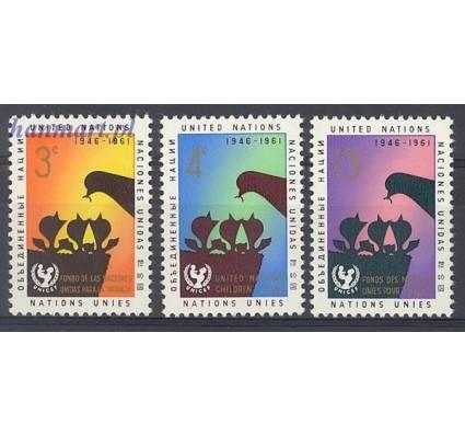 Znaczek Narody Zjednoczone Nowy Jork 1961 Mi 111-113 Czyste **