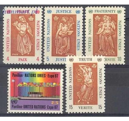 Znaczek Narody Zjednoczone Nowy Jork 1967 Mi 180-184 Czyste **