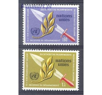 Znaczek Narody Zjednoczone Genewa 1973 Mi 30-31 Czyste **