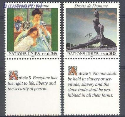 Znaczek Narody Zjednoczone Genewa 1989 Mi zf 180-181 Czyste **
