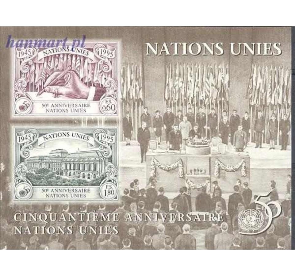Narody Zjednoczone Genewa 1995 Mi bl 7 Czyste **