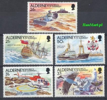 Znaczek Alderney 1991 Mi 49-53 Czyste **