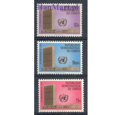 Znaczek Kongo Kinszasa / Zair 1970 Mi 389-391 Czyste **