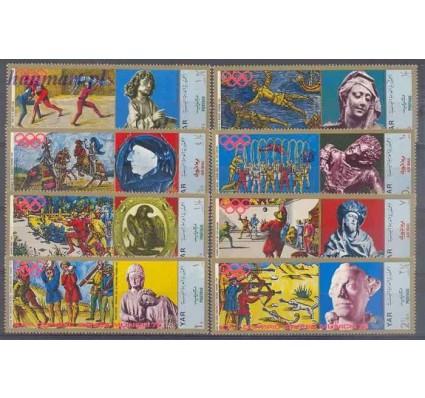Znaczek Jemen Północny 1970 Mi 1371-1378 Czyste **