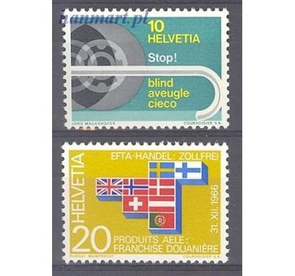 Szwajcaria 1967 Mi 851-852 Czyste **