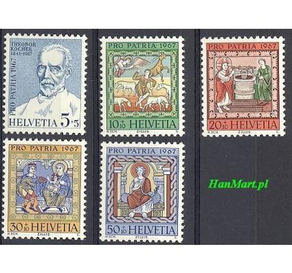 Znaczek Szwajcaria 1967 Mi 853-857 Czyste **