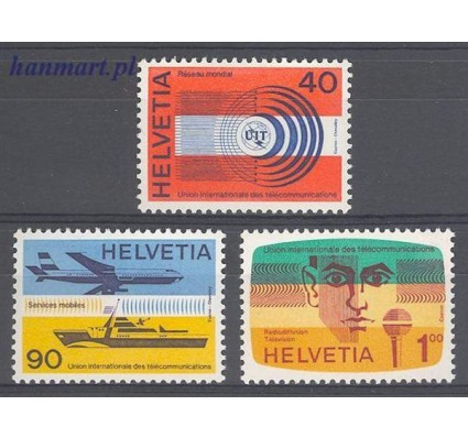 Szwajcaria 1976 Mi itu 11-13 Czyste **