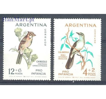 Znaczek Argentyna 1962 Mi 806-807 Czyste **