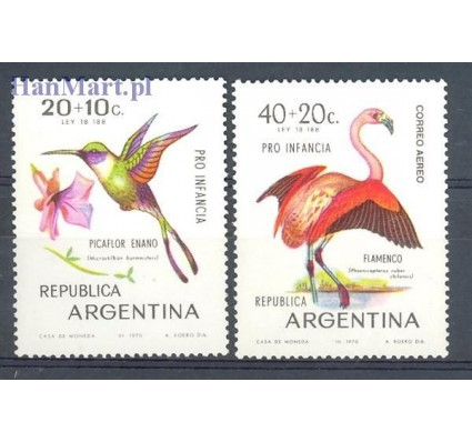 Znaczek Argentyna 1970 Mi 1055-1056 Czyste **