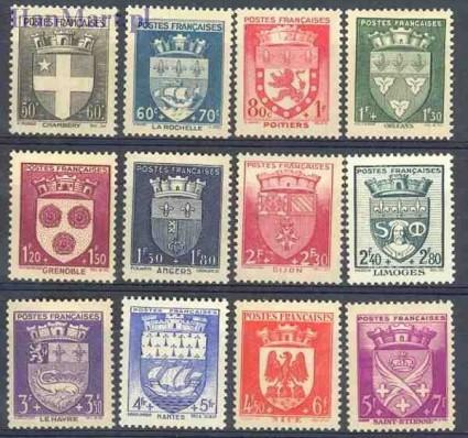 Znaczek Francja 1942 Mi 564-575 Czyste **
