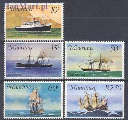 Znaczek Mauritius 1976 Mi 411-415 Czyste **