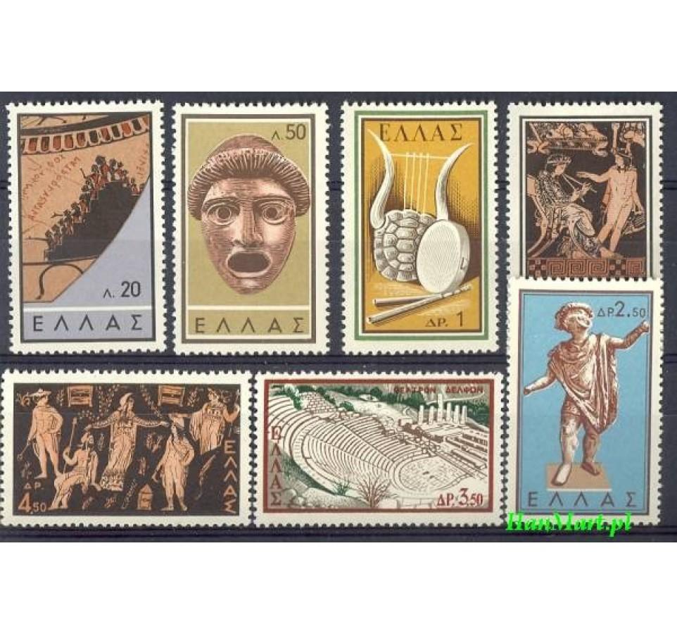 Grecja 1959 Mi 706-712 Czyste **