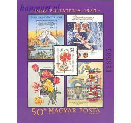 Węgry 1989 Mi bl 207 Czyste **