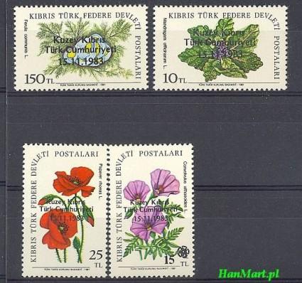 Znaczek Cypr Północny 1983 Mi 138-141 Czyste **