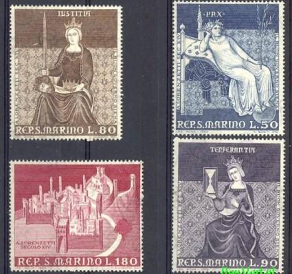 San Marino 1969 Mi 921-924 Czyste **