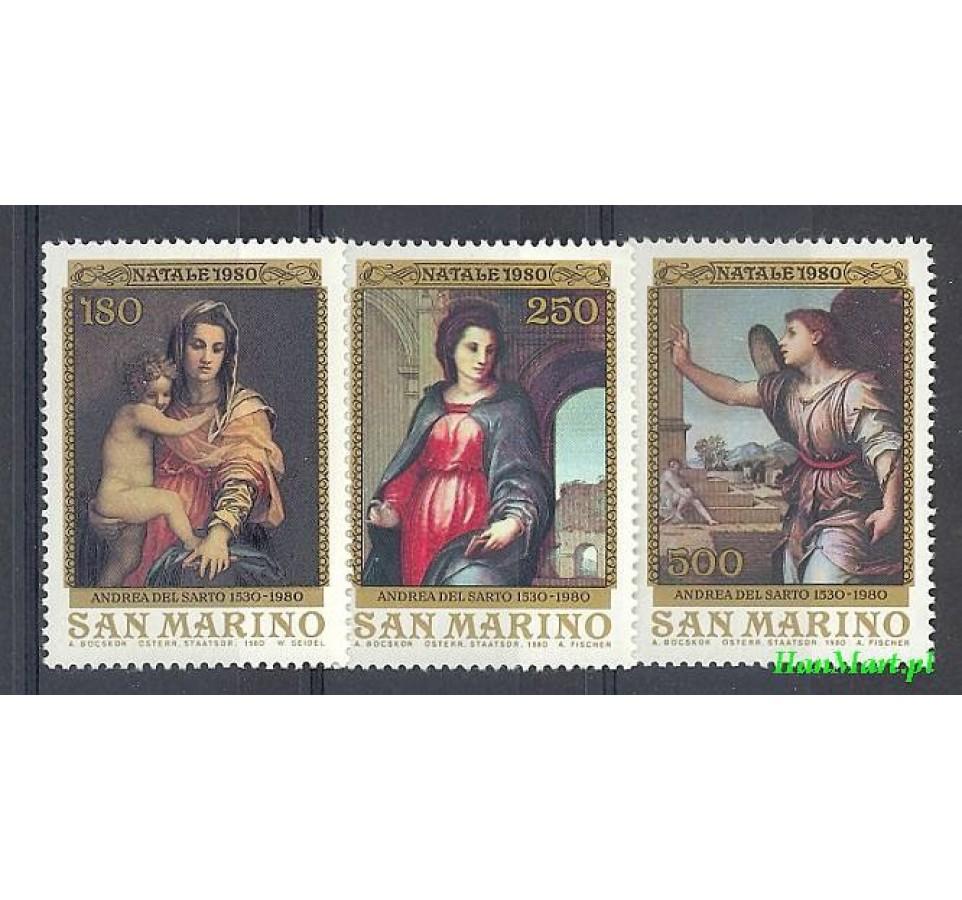 San Marino 1980 Mi 1222-1224 Czyste **