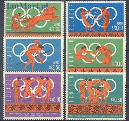 Znaczek Ekwador 1966 Mi 1262-1267 Z podlepką *