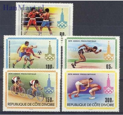 Wybrzeże Kości Słoniowej 1979 Mi 614-618 Czyste **