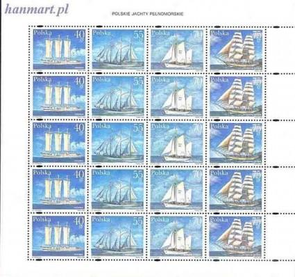 Polska 1996 Mi ark 3577-3580 Fi ark 3429-3432 Czyste **