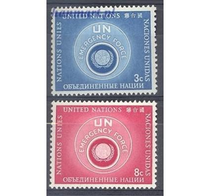 Narody Zjednoczone Nowy Jork 1957 Mi 57-58 Czyste **