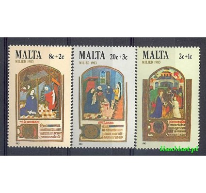 Malta 1983 Mi 687-689 Czyste **