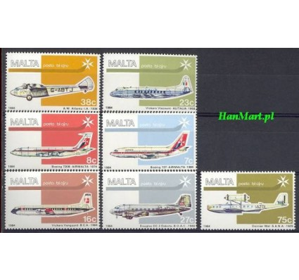 Malta 1984 Mi 697-703 Czyste **