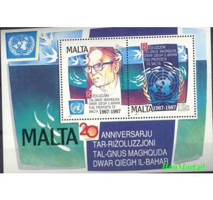Znaczek Malta 1987 Mi bl 10 Czyste **