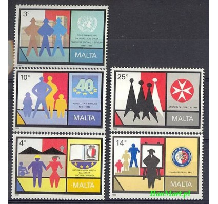 Malta 1989 Mi 822-826 Czyste **