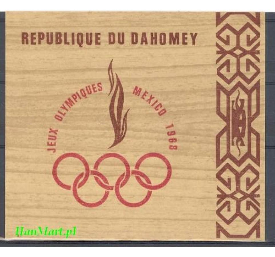 Dahomej 1968 Mi bl 15 Czyste **