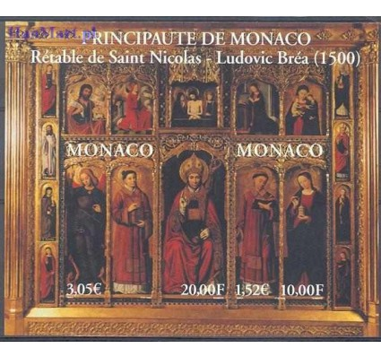 Monako 2000 Mi bl 80 Czyste **