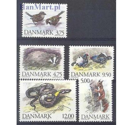 Znaczek Dania 1994 Mi 1086-1090 Czyste **