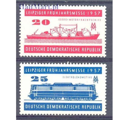 Znaczek NRD / DDR 1957 Mi 559-560 Czyste **