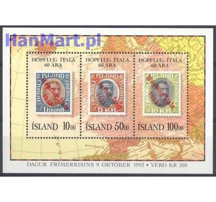 Islandia 1993 Mi bl 14 Czyste **