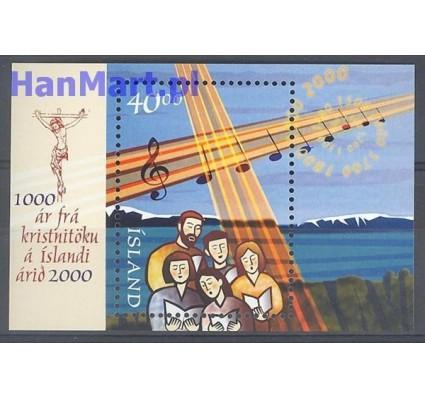 Znaczek Islandia 2000 Mi bl 25 Czyste **